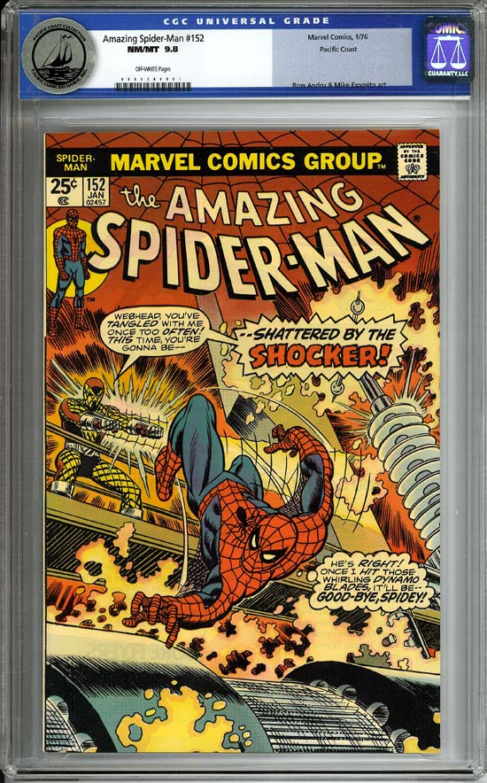 Amazing Spider-Man #152 CGC 9.8 ow Pacific Coast