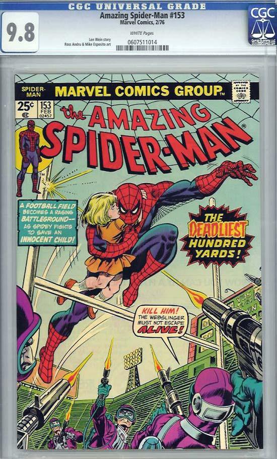 Amazing Spider-Man #153 CGC 9.8 w