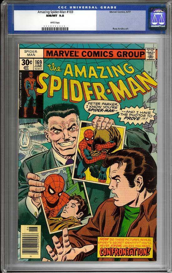Amazing Spider-Man #169 CGC 9.8w