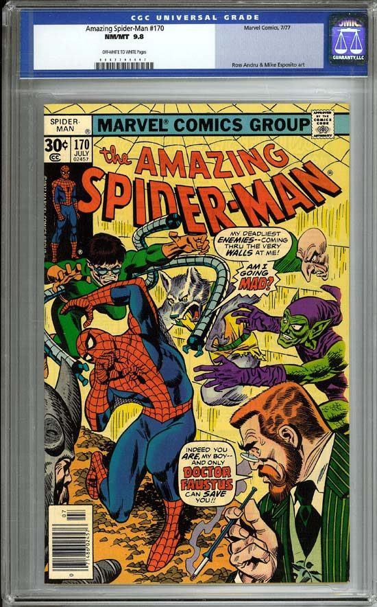 Amazing Spider-Man #170 CGC 9.8 ow/w