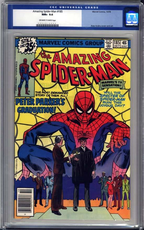 Amazing Spider-Man #185 CGC 9.6 ow/w