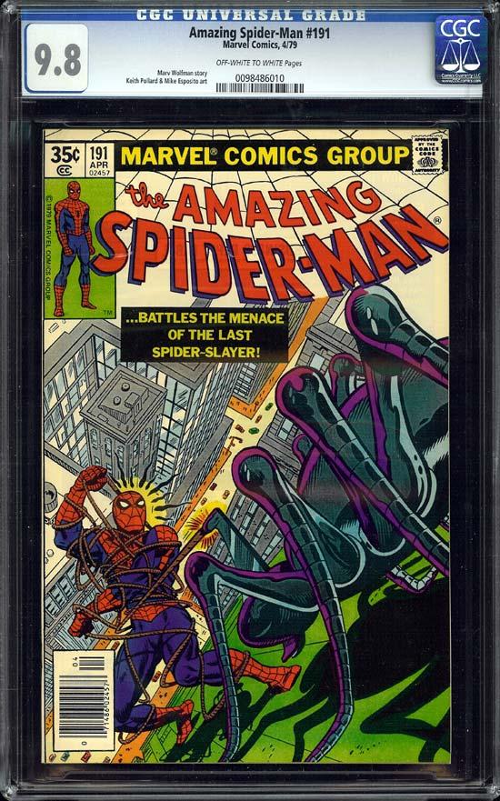 Amazing Spider-Man #191 CGC 9.8ow/w
