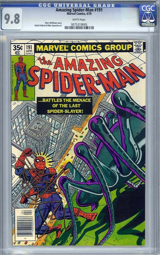 Amazing Spider-Man #191 CGC 9.8w