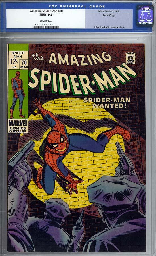 Amazing Spider-Man #70 CGC 9.6 ow Massachusetts