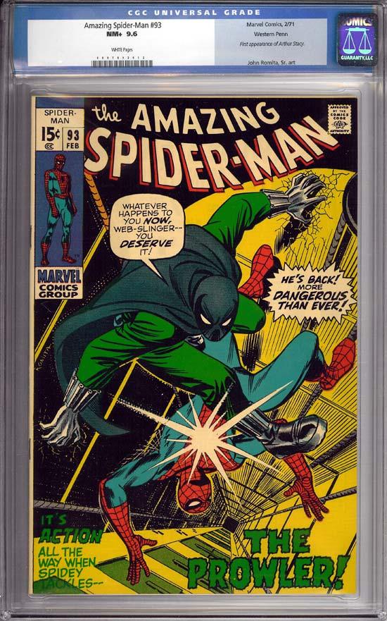 Amazing Spider-Man #93 CGC 9.6 w Western Penn