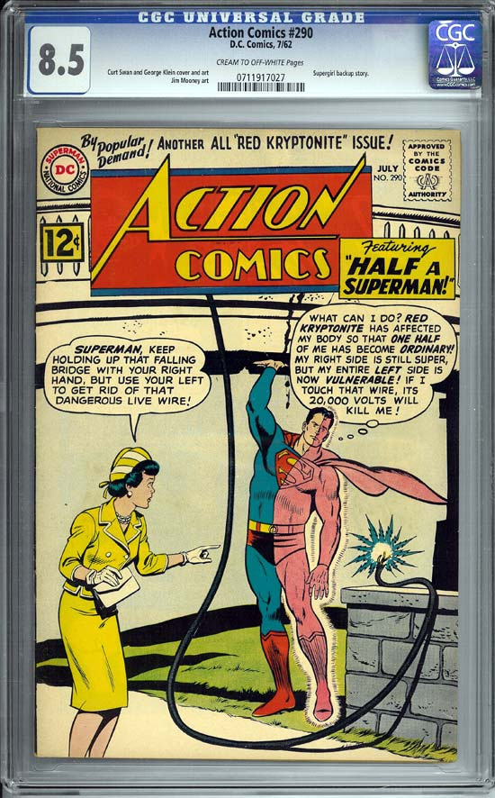 Action Comics #290 CGC 8.5cr/ow