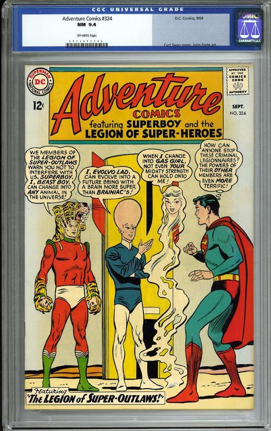 Adventure Comics #324 CGC 9.4 ow