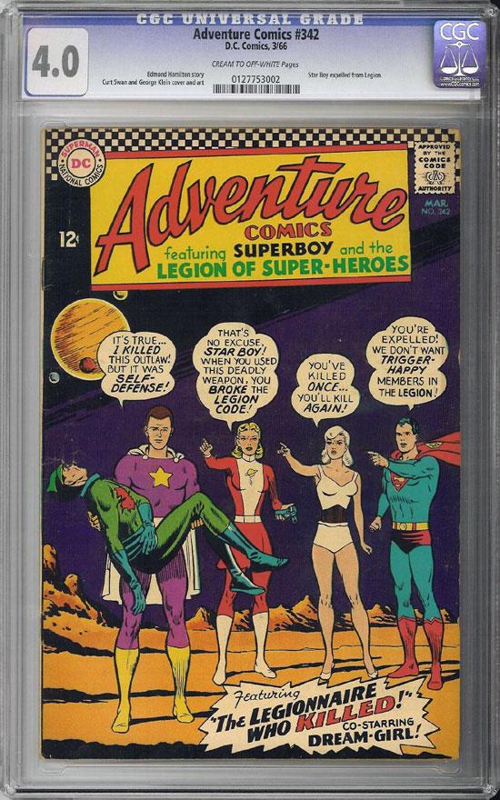 Adventure Comics #342 CGC 4.0 cr/ow