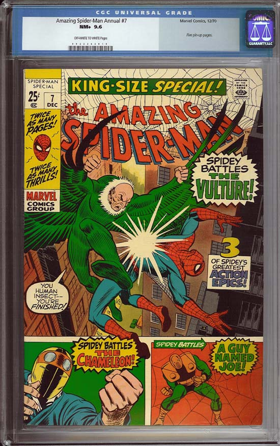 Amazing Spider-Man Annual #7 CGC 9.6 ow/w