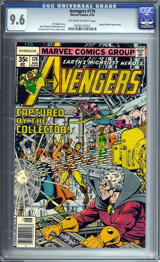 Avengers #174 CGC 9.6 w