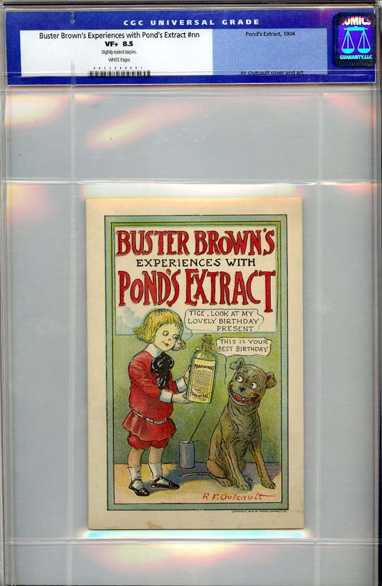 Buster Brown's Experiences with Pond's Extract #1 CGC 8.5w