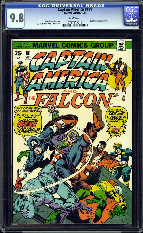 Captain America #181 CGC 9.8 w