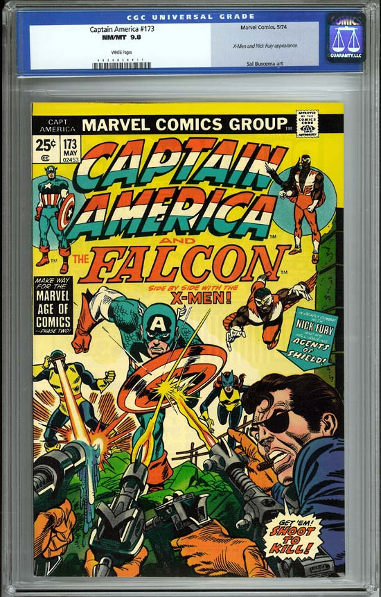 Captain America #173 CGC 9.8 w