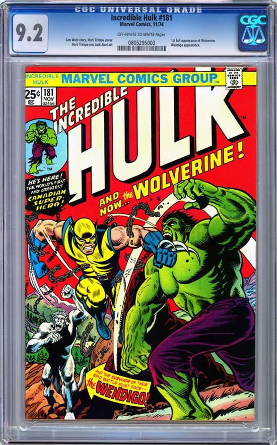 Incredible Hulk #181 CGC 9.2 ow/w