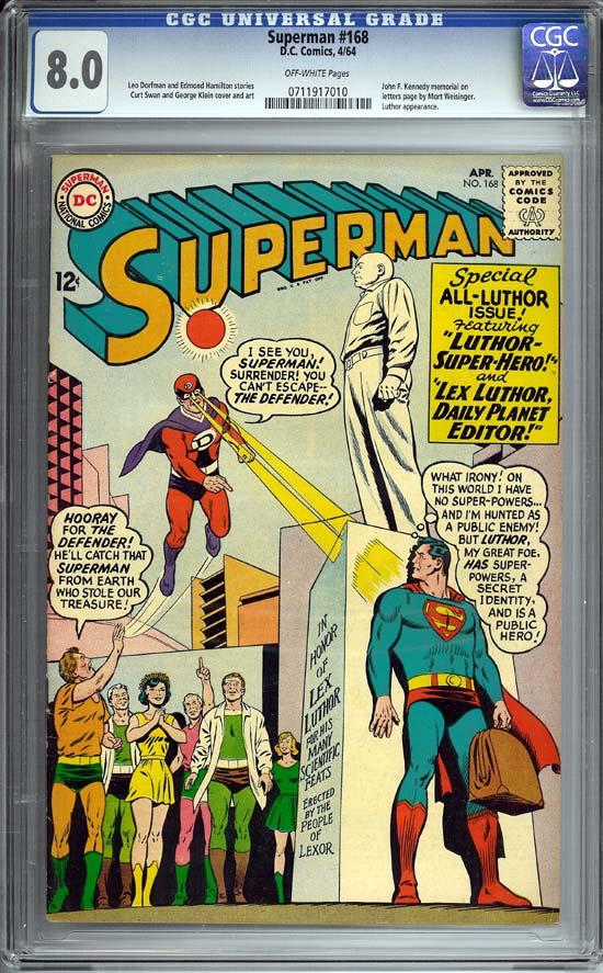 Superman #168 CGC 8.0ow