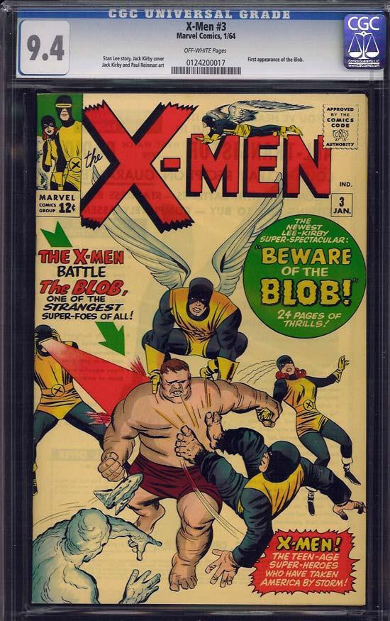 X-Men #3 CGC 9.4 ow/w Massachusetts