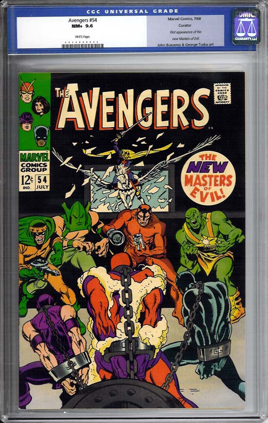 Avengers #54 CGC 9.6 w Curator