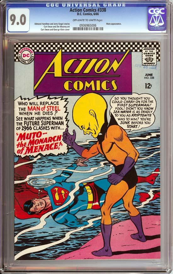 Action Comics #338 CGC 9.0 ow/w