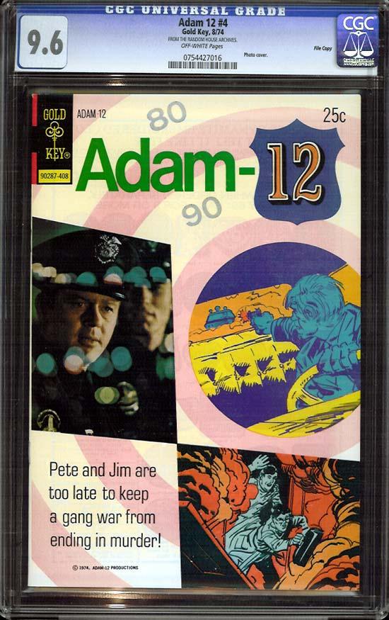 Adam 12 #4 CGC 9.6 ow File Copy