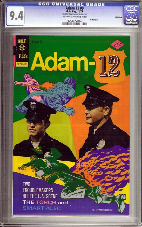 Adam 12 #9 CGC 9.4 ow/w File Copy