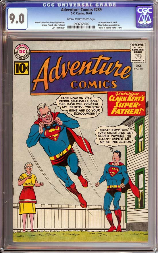 Adventure Comics #289 CGC 9.0 cr/ow
