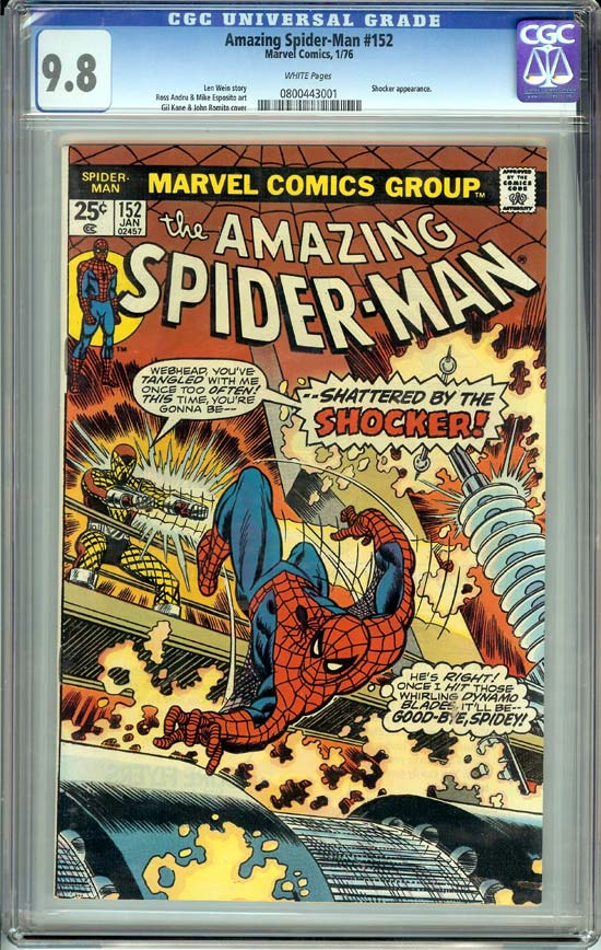 Amazing Spider-Man #152 CGC 9.8 w
