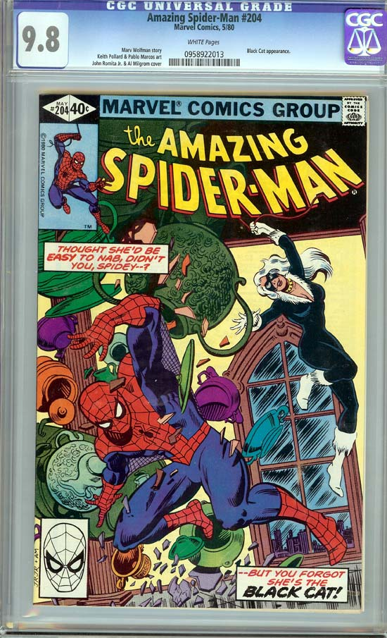 Amazing Spider-Man #204 CGC 9.8 w