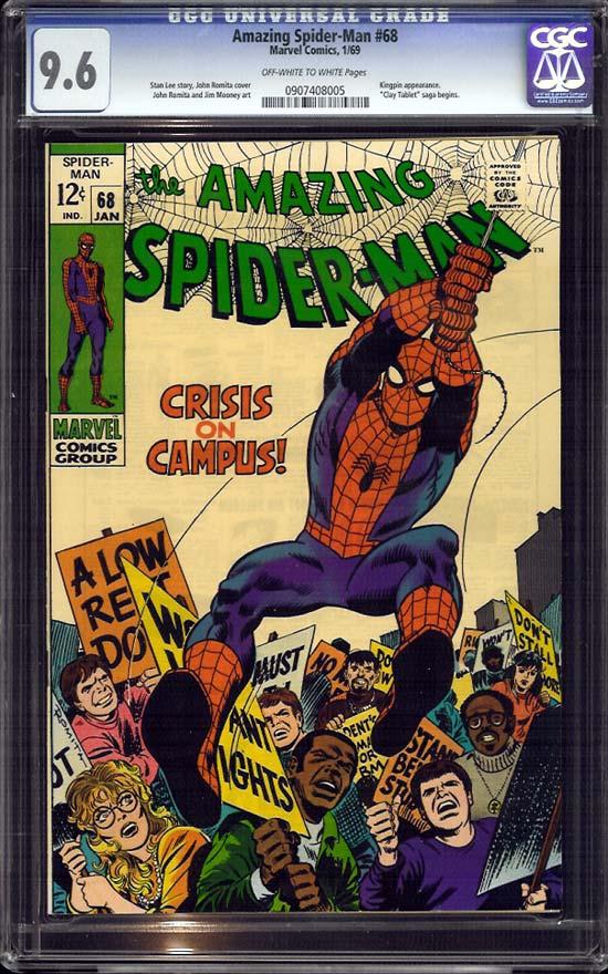 Amazing Spider-Man #68 CGC 9.6 ow/w