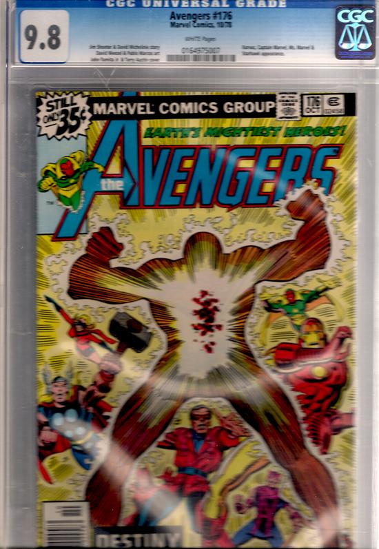 Avengers #176 CGC 9.8 w