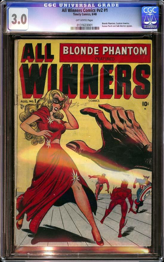 All Winners Comics Vol 2 #1 CGC 3.0 ow