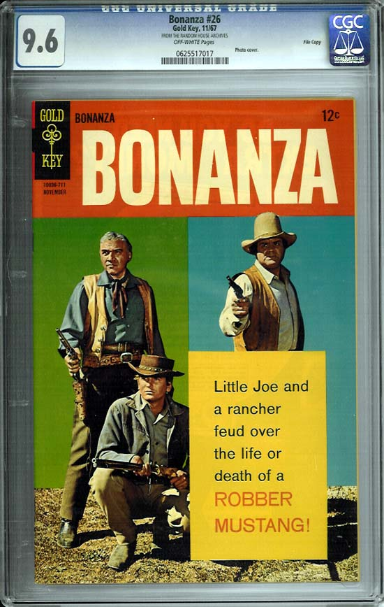 Bonanza #26 CGC 9.6 ow File Copy