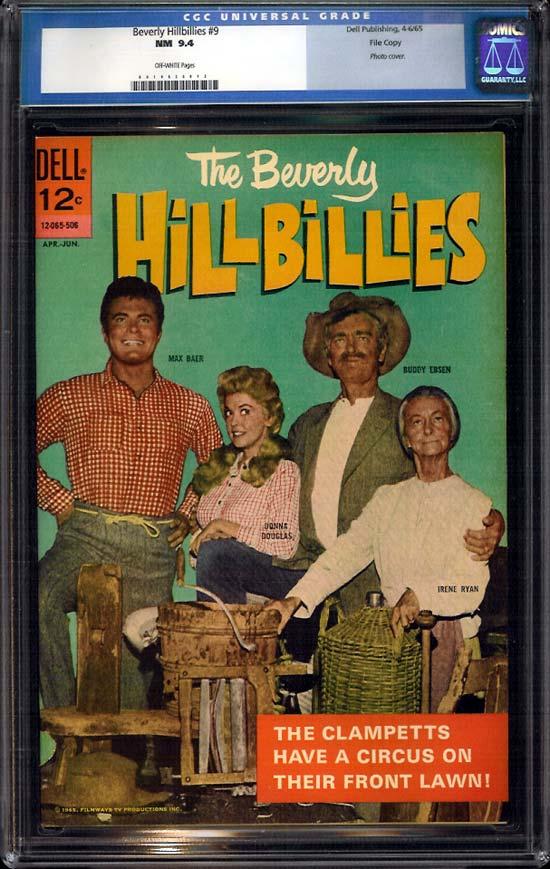 Beverly Hillbillies #9 CGC 9.4 ow File Copy