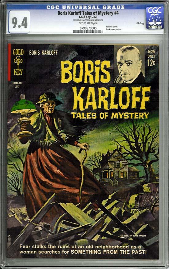 Boris Karloff Tales of Mystery #4 CGC 9.4 ow File Copy