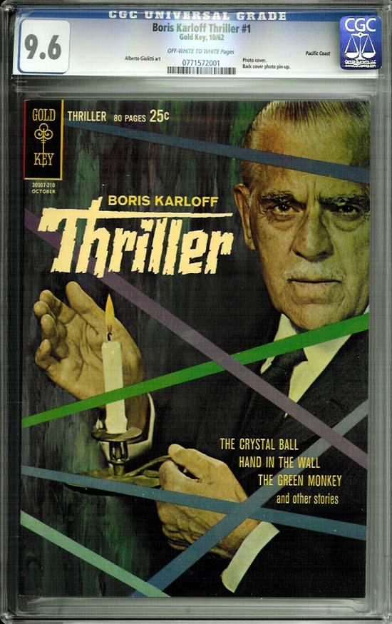 Boris Karloff Thriller #1 CGC 9.6 ow/w Pacific Coast