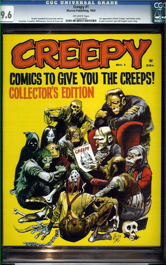 Creepy #1 CGC 9.6 ow