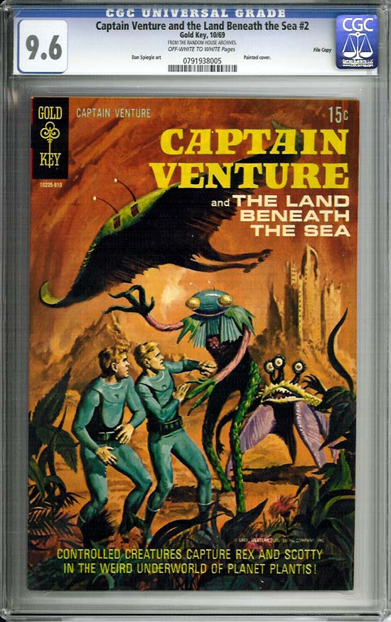 Captain Venture and the Land Beneath the Sea #2 CGC 9.6 ow/w File Copy