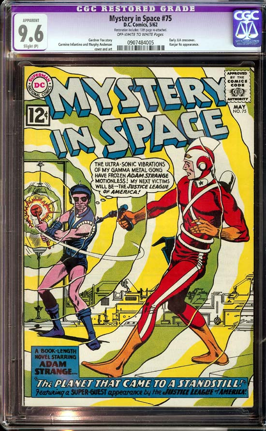 Mystery in Space #75 CGC 9.6 ow/w