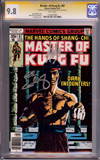 Master of Kung Fu #67 CGC 9.8 w CGC Signature SERIES