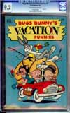 Bugs Bunny's Vacation Funnies #1 CGC 9.2 cr/ow