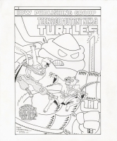 TEENAGE MUTANT NINJA TURTLES  # 3 COVER ORIGINAL ART (DAREDEVIL # 181RE-INTERPRETATION)