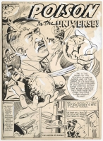 ALL COMICS # 4 PAGE 28 SPLASH ORIGINAL COMIC ART : HITLER 1943