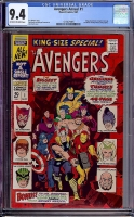 Avengers Annual #1 CGC 9.4 ow/w
