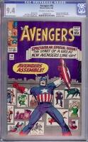 Avengers #16 CGC 9.4 ow/w