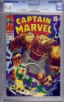 Captain Marvel #6 CGC 9.4 ow/w