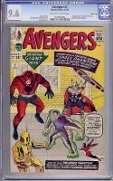 Avengers #2 CGC 9.6 ow/w Massachusetts