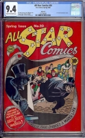 All Star Comics #20 CGC 9.4 cr/ow Rockford