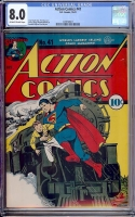 Action Comics #41 CGC 8.0 ow/w