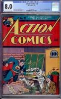 Action Comics #32 CGC 8.0 cr/ow