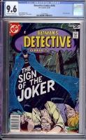 Detective Comics #476 CGC 9.6 ow/w