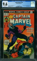 Captain Marvel #34 CGC 9.6 ow